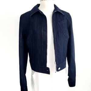 NWT Christian Dior Navy Blue Denim Women's Jacket